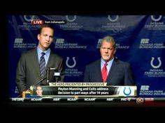 Peyton Manning Says Goodbye to Colts