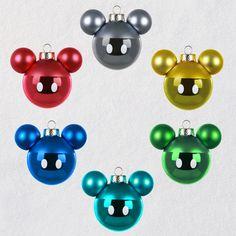 Disney Mickey Mouse Glass Ornaments, Set of 6 - Keepsake Ornaments - Hallmark $19.99