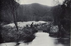 The Los Angeles River running through Griffith Park circa 1910.