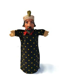 Vintage Hand Puppet Sultan .  Maharaji . by Majilly on Etsy, €10.00