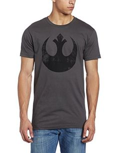 7c10241c Star Wars Mens Old Rebel TShirt Charcoal Large *** You can get more details  by clicking on the image.