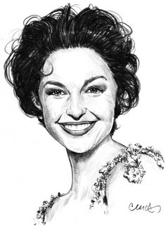 Ashley Judd by Roger_Curley {from USA} ~ pencil portrait