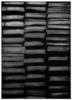 Pierre Soulages, peinture 3 mars 2013 - I want this painting for my house! Abstract Expressionism, Abstract Art, Modern Art, Contemporary Art, Black And White Painting, French Artists, Shades Of Black, Color Negra, Textures Patterns