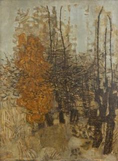 Prunella Clough at the Austin Desmond Gallery. A brilliant representation of an overview of her work from 1946 until her death in Finishes 24 April - Glen Contemporary Landscape, Urban Landscape, Contemporary Paintings, Painting Edges, Painting & Drawing, Chelsea School Of Art, London Art, Natural Forms, Tree Art