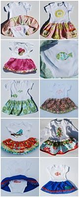 Skirted Onesie: Such a great way to dress up boring onesies. If I ever have a girl, every outfit will have a skirt or tutu lol (Diy Baby Dress) Baby Outfits, Kids Outfits, Toddler Outfits, Toddler Girls, Onesie Dress, Baby Dress, Baby Onesie, Baby Tutu, Girl Tutu