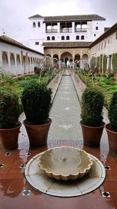 The Generalife at the Alhambra Palace, Granada, Spain