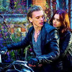 Jamie Campbell Bower and Lily Collins as Jace & Clary from The Mortal Instruments: City of Bones (2013)