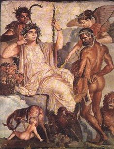 Herakles and the Infant Telephos Roman fresco copy of Greek painting, century AD, Herculaneum, Italy Rome Antique, Art Antique, Roman History, Art History, Ancient Rome, Ancient Art, Greek Paintings, Roman Paintings, Gizeh