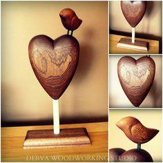Handmade wooden heart