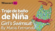 María Fernanda te obsequia este video tutorial para la elaboración de un hermoso trajes de baño para niñas, descarga gratis el patrón en www.minauri.com ¡ co...