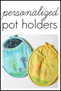 Personalized Pot Holders...great gift idea for Mothers Day!