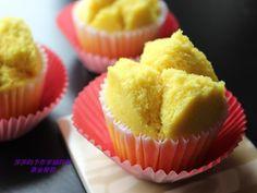 Golden steamed cake 年關將近,利用薑黃粉做的黃金發糕,預祝大家財源滾滾喔!