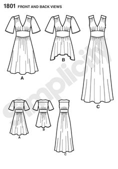 Simplicity 1801 - Act II Evening Gown - $17.95 Retail