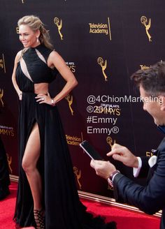 Getting a picture of his beautiful bride. #Emmy Red Carpet #Emmy2016 #EmmyArts #4ChionEmmys #RedCarpet