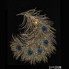 1 X Diamante Motif Applique Rhinestone Sew on#1-11