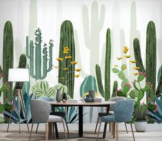 Cacti Flower Wallpaper Wall Mural Cactus Floral Murals Art Wall Decal Printed Photo Wall Papers Home Wall Decor Cactus fleur papier peint Mural Cactus Restaurant Floral Wall Photo Wallpaper, Wall Wallpaper, Flower Wallpaper, Bedroom Wallpaper, Wallpaper Ideas, Silver Wallpaper, Office Wallpaper, Trendy Wallpaper, Wallpaper Wallpapers