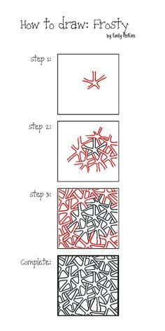 Tangle pattern: Frosty by enajylime
