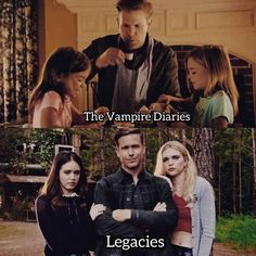 Alaric from the Vampire Diaries and his twin daughters all grown up 😍❤ Serie The Vampire Diaries, Vampire Series, Vampire Diaries Wallpaper, Vampire Diaries Damon, Vampire Diaries Quotes, Vampire Diaries The Originals, Legacy Tv Series, Cw Series, Damon Salvatore