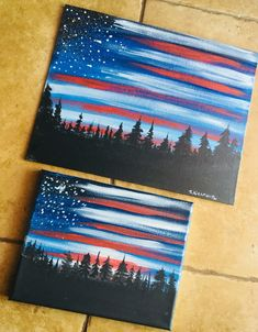 Interior Decor Living Room Ideas How To Paint American Flag Sky - Step By Step Painting by elva.Interior Decor Living Room Ideas How To Paint American Flag Sky - Step By Step Painting by elva Diy Canvas, Acrylic Painting Canvas, Diy Painting, Painting & Drawing, Canvas Ideas, Painting Classes, 3 Canvas Painting Ideas, Shadow Painting, Canvas Art Projects
