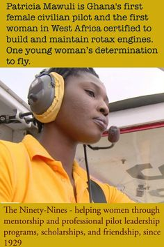 The first female to fly in Ghana showed determination and grit in her  desire to fly