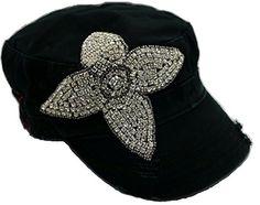 Cap Couture Women's Lucky Clover Cadet Hat Black One Size Cap Couture http://www.amazon.com/dp/B00OR5WWJG/ref=cm_sw_r_pi_dp_hoTtub09RXFH1