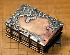 Etched and Soldered Metal Book - Rose