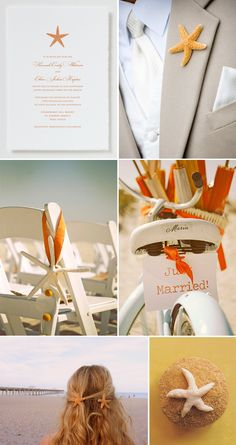 Beautiful beach themed wedding