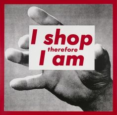 New York's 1980s Art Scene Is the Subject of a Major Exhibition in Fort Worth – Vogue - Barbara Kruger,  Untitled (I Shop therefore I Am),  1987