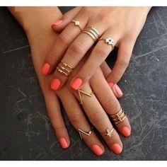 Anéis de Falange - 4 peças