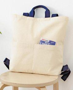 ナチュラル派に人気!持ち手付き帆布のリュックサックの作り方|ぬくもり Japan Bag, Backpack Bags, Tote Bag, Backpack Pattern, Linen Bag, Fabric Bags, Shopper Bag, Casual Bags, Cotton Bag