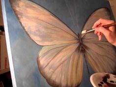 Jezebel Butterfly Time Lapse Painting Video @Timea Biro Biro Willemse This is very cool!!