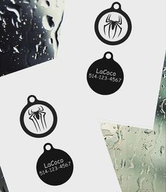 Old Spiderman/Quiet dog tag Plastic pet tags Custom by LaCoco725