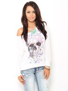 #Floral #Skull Pullover