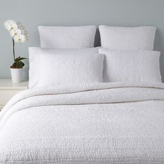 This is it!  Sky Pintuck Bedding, White | Bloomingdale's