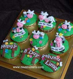 Cow Cupcake Set