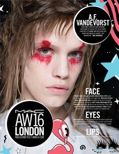 M·A·C Backstage at A.F Vandevorst AW16 LFW. Get the look with Studio Face and Body Foundation.