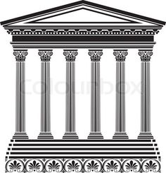 "Buy the royalty-free Stock vector ""Greek temple stencil"" online ✓ All rights included ✓ High resolution vector file for print, web & Social Media Animal Silhouette, Silhouette Vector, Free Vector Images, Vector Free, Mermaid Vector, Temple Logo, Angel Vector, Celtic Border, Medieval"