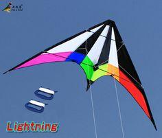 Envío gratis Outdoor Fun Sports 2015 nueva línea Dual truco cometas / Lightning Kite con empuñadura y la línea Flying buena(China (Mainland))
