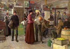 Abbott Fuller Graves (American artist, 1859 – 1936) Country Grocery in Kennebunkport, Maine