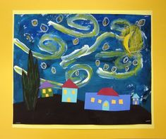 Starry Night by Vincent Van Gogh. Great art projects for kids