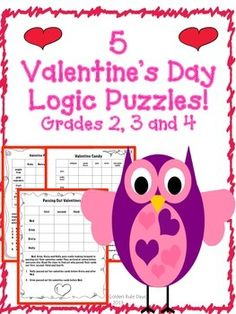 Valentine's Day Logic Puzzles! ~Critical Thinking!~ Grades