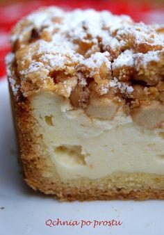 Sernik z jabłkami i kruszonką Banana Bread, Pudding, Food, Xmas, Custard Pudding, Essen, Puddings, Meals, Yemek
