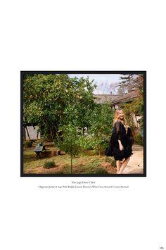 Posing outdoors, Halston Sage wears Chloe dress with ruffles