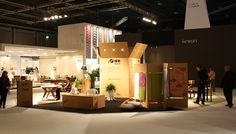 Trade Fair Stand constructed from Reboard engineered paper-based board. Lightweight and 100% paper recyclable.