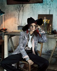 "opaqueglitter: Karlina Caune By Giampaolo Sgura For Vogue Germany May 2013 ""Folk Dandy"""