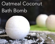 Oatmeal Coconut Bath Bomb