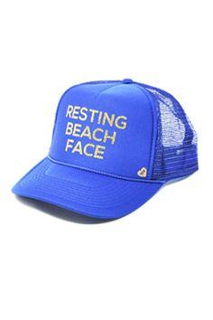835d8685380e7 Mother Trucker Resting Beach Face Royal Blue Hat