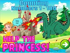Counting Numbers 1 to 100 Interactive Powerpoint game Math Numbers, Writing Numbers, Powerpoint Help, Princess Stories, Fairy Tale Theme, Technology Lessons, Halloween Math, Primary Maths, Show Me The Way