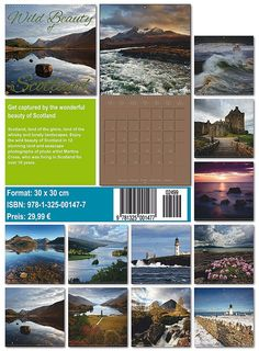 Wild Beauty of Scotland 2015 30x30x Wall Calendar Premium Edition