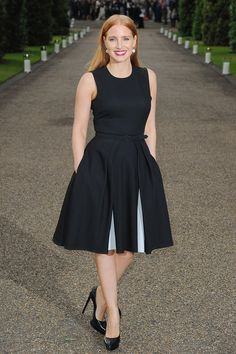Jessica Chastain Attend the Vogue and Ralph Lauren Wimbledon party held at The Orangery in London, England on Monday Evening (June 22, 2015).